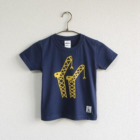 こどもTシャツ ブルー(クレーン)