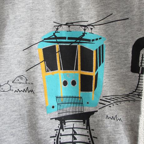 おとな長袖Tシャツ 杢グレー(六甲ケーブルカー)