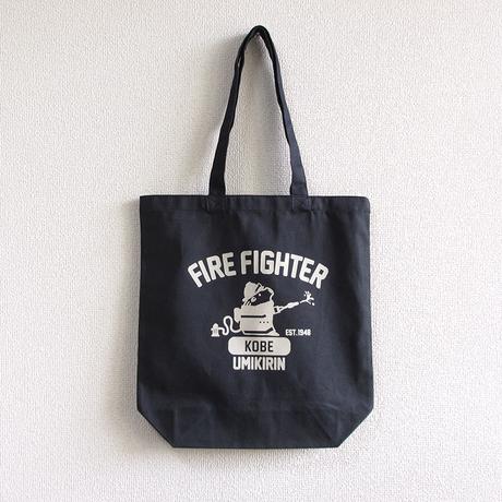 神戸市消防局コラボトートバッグ ネイビー(うりぼう消防士)