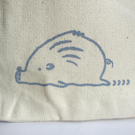 ミニトートバッグ (両サイドポケット)ナチュラル  (うりぼう)