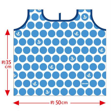 エコバッグ(水玉イカリ)ブルー系