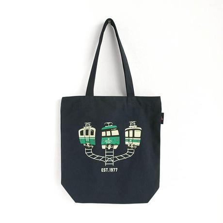 神戸市交通局コラボ ジップトートバッグ ネイビー(地下鉄西神・山手線)