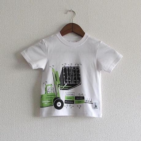 こどもTシャツ ホワイト(フォークリフト)