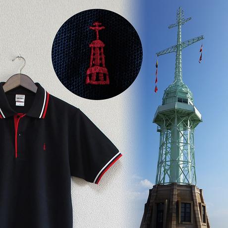 おとなラインポロシャツ ネイビー(旧神戸港信号所)
