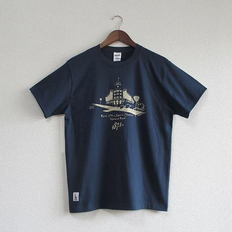 おとなTシャツ ブルー(日本一短い国道174号線)