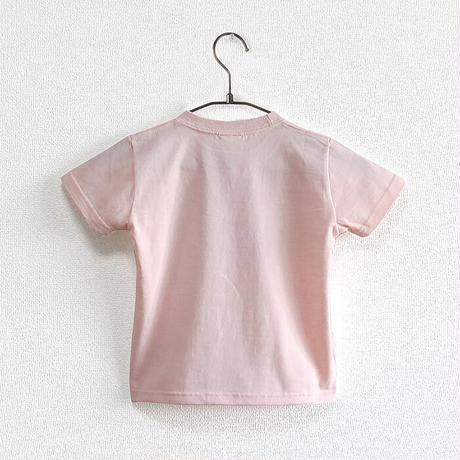 カフェクロトコラボ こども半袖Tシャツ ベビーピンク (クロト猫)