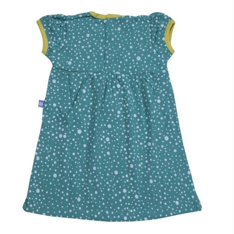 HUGABUG Polka Dot Dress Blue 80/ 92cm ※残り92㎝のみ
