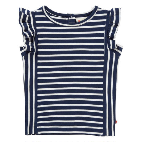 Piccalilly Blue Stripe フリルTops 104/ 110/ 116/ 122/ 128cm