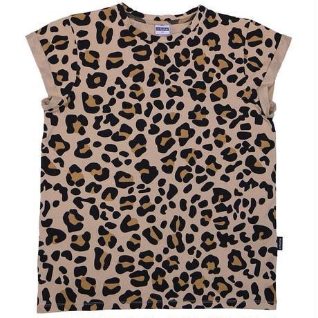 Cribstar レディース レオパード 半袖Tシャツ 大人サイズ S/ M/ L