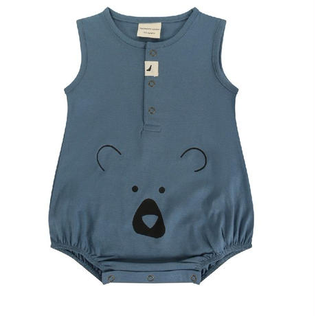 Turtledove London Bear Head Bubble Romper Blue 62/ 68/ 80cm