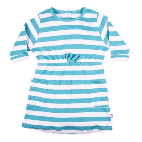 HUGABUG Jersey Stripe Dress Green 98/ 104cm