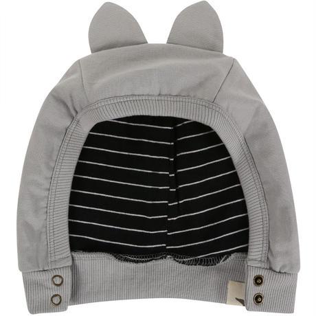 Turtledove London Grey Sweat Animal Hat 0-2y