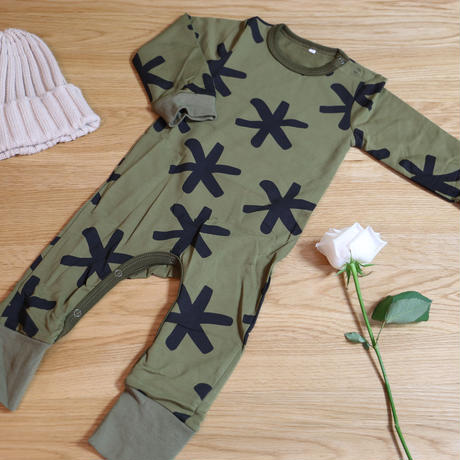 Deep Green Rompers 80cm 1枚のみ