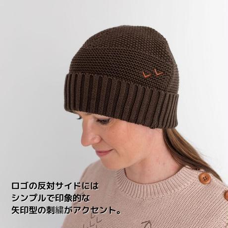 wild island Apparel 大人用ユニセックスコットンニット帽 ブラウン フリーサイズ