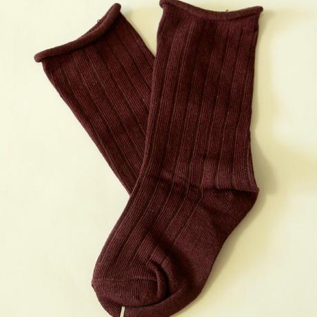 無地Plain Socks Brown 1足 7-14/ 18-22cm