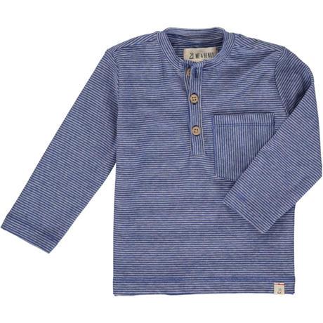 Me & Henry ストライプ長袖Tシャツ ブルー 122~164cm