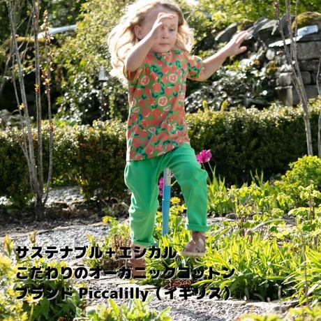 Piccalilly オーガニックコットンパンツ グリーン72/ 80/86/92/98/104cm