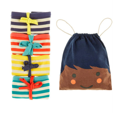 Tootsa Essential Striped パンツ 4枚セット Navy, Sun, Bright Red & Teal 98cm/ 104cm/ 110cm/ 116cm/ 125cm