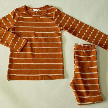 Double Stripe Pajama Brown 130cm/ 140cm ※残り130cmのみ
