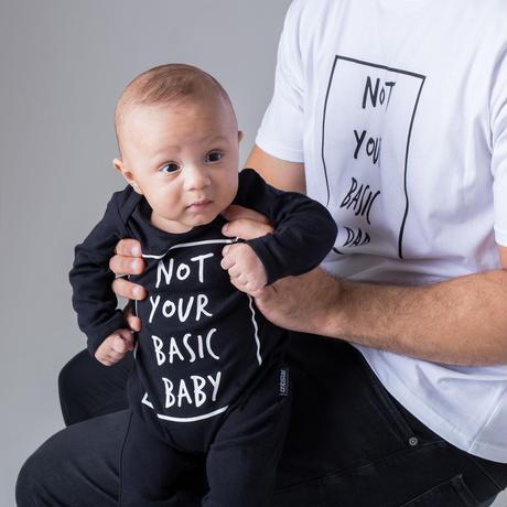 Cribstar Not Your Basic Baby Romper Black 72/ 80cm