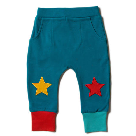 Little Green RadicalsTeal Star Joggers 98/ 104/ 110/ 116/ 122cm
