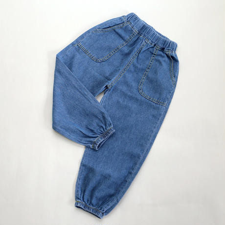 77ff21f0e30fa5 薄手コットンデニムパンツ Blue 110~130cm