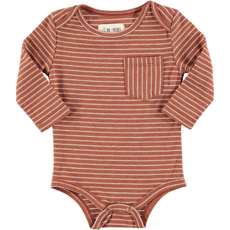 Me & Henry Stripe Romper Brown 69/ 80/ 86/ 91cm