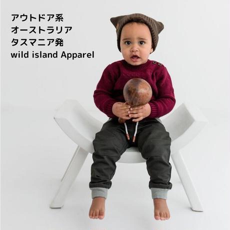 wild island Apparel ベビー コットンニット帽 ブラウン 0-2y