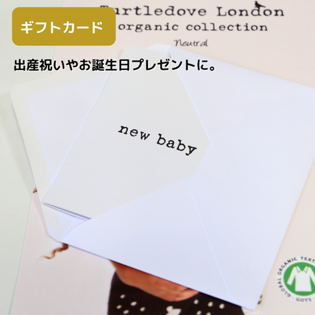 Turtledove London メッセージカード new baby/ happy birthday/ Happy Christmas