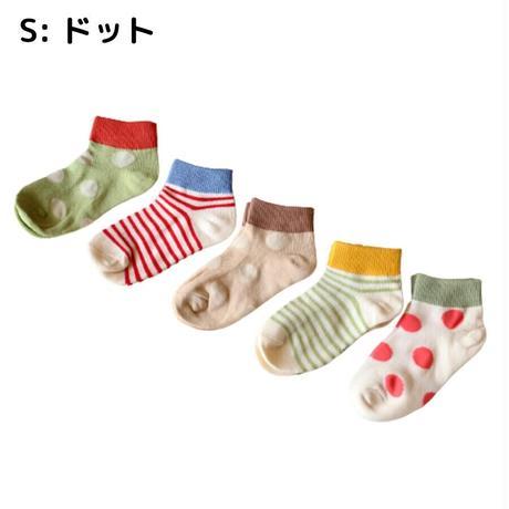 ドット Socks 5足セット 14-16/ 16-18/ 18-22cm