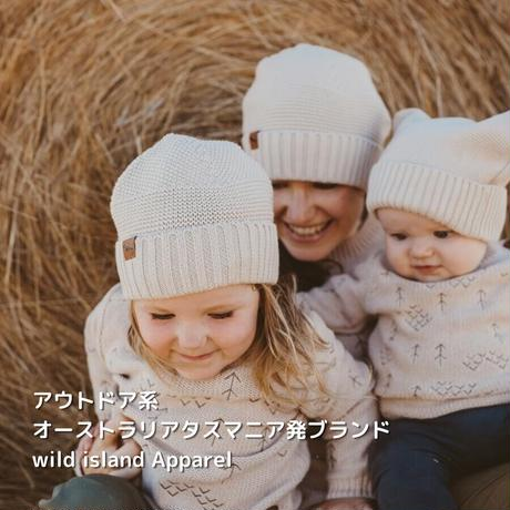 wild island Apparel 大人用ユニセックスコットンニット帽 ベージュ フリーサイズ