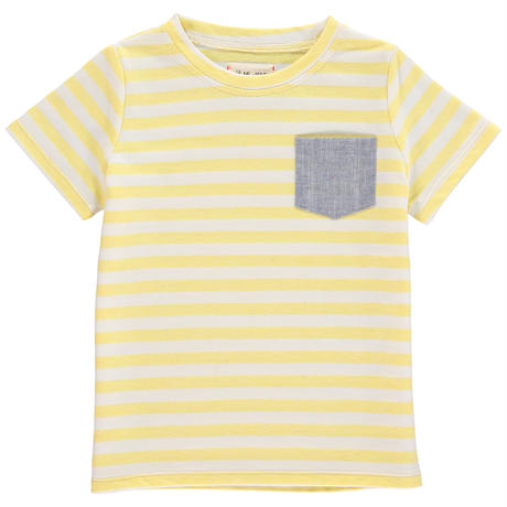 Me & Henry Pocket Stripe T-shirt Yellow ※残り8-9y(132cm)1枚のみ