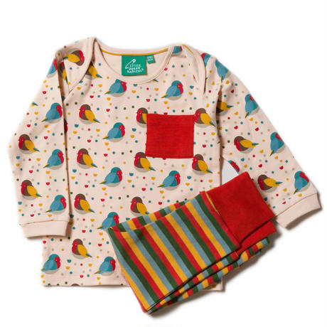 Little Green Radicals Rainbow Robis Pajamas 98cm