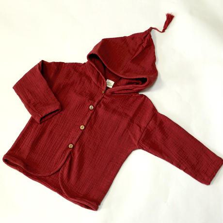 コットンガーディガン Cotton Cardigan Red 80~110cm