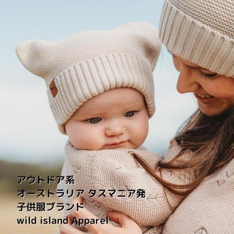 wild island Apparel ベビー コットンニット帽 ベージュ 0-2y