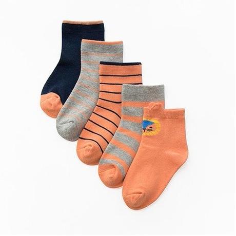 ピンク Pink Socks 5足セット 15-17/ 18-20/  20-22cm