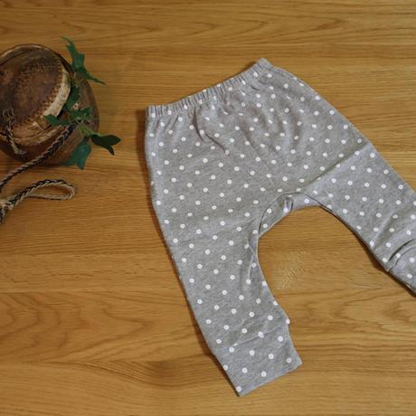 グレーパンツ 水玉 Baby Cotton Pants Dots 65cm(6ヶ月)/ 75cm(12ヶ月)/ 80cm(18ヶ月)