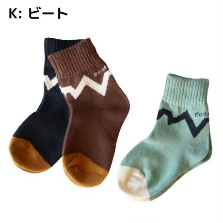 Beat Pattern Socks 5足セット 14-16/ 16-18/ 18-22cm
