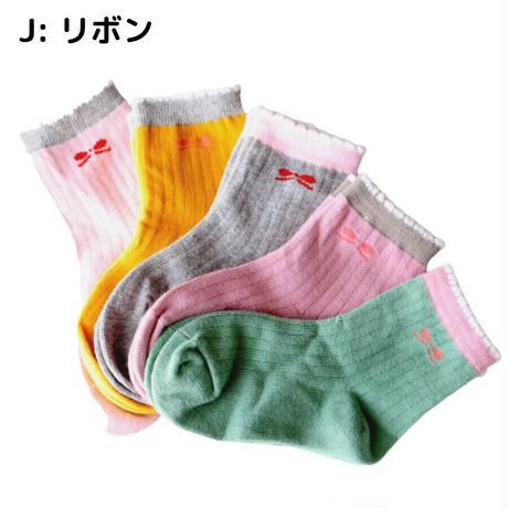 Little Ribbon Socks 5足セット 14-16/ 16-18/ 18-22cm
