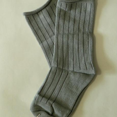 無地Plain Socks Grey 1足 14-18cm