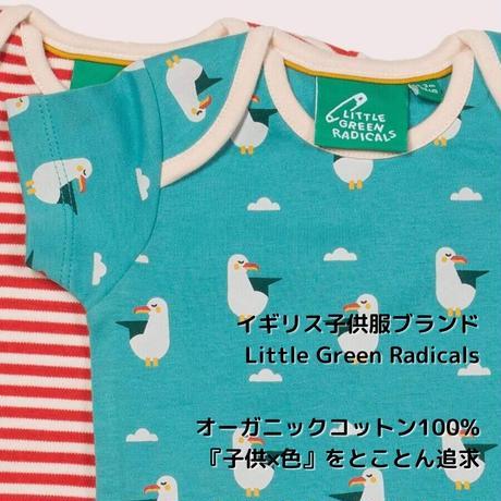 Little Green Radicals カモメ半袖ロンパース2枚セット 68/ 74/ 80/ 86cm