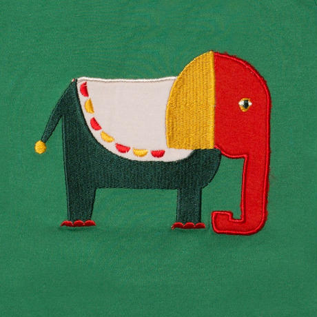 Little Green Radicals Starry Eyed Elephant アップリケT 86/ 92/ 98cm