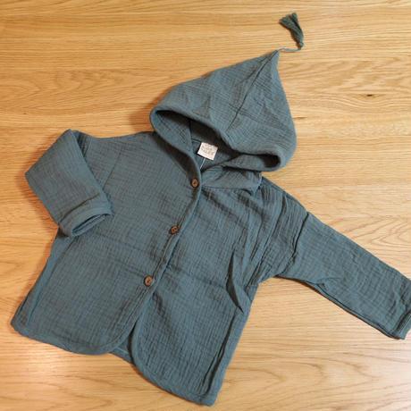 コットンガーディガン Cotton Cardigan Green 90~120cm