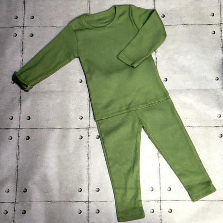 リブパジャマ Rib Pajama Smokey Green 90~110cm