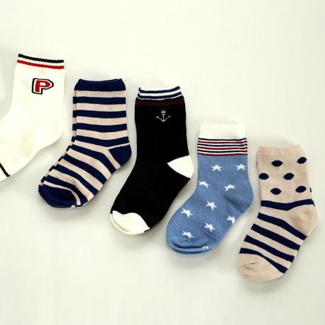 Blue Socks 5足セット 16-20cm/ 18-22cm