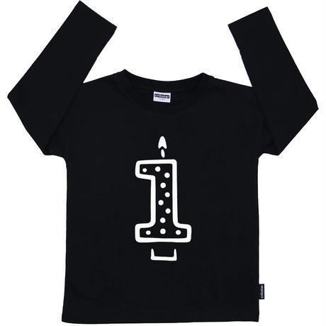Cribstar 1 Candle Long Sleeve T Black 92cm(1-2y)