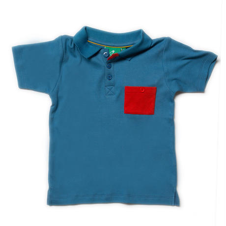Little Green Radicals Ocean Blue Sunshine Polo 104/ 110/ 116/ 122/ 128cm
