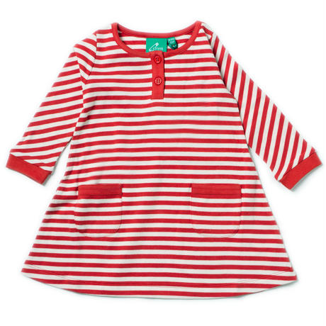 Little Green Radicals Red Stripes Dress 104/ 110/ 116/ 122cm