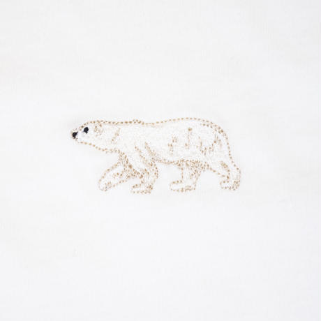 Endangered Polar Bear 刺繍Tシャツ Nach