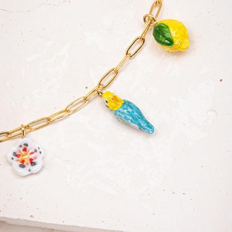 Bird, Lemon & Flower ネックレス